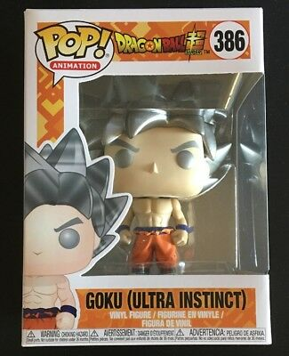 Funko Pop! Animation Dragon Ball Super Goku (Ultra Instinct) #386 W/ Protector!