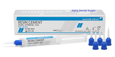 Master-Dent Dental Resin Cement Dual Syringe 7ml Automix w/ Tips #10-820