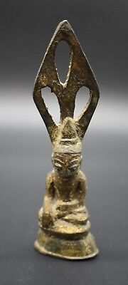 Antique bronze Thai Buddha figurine C. 19th century AD
