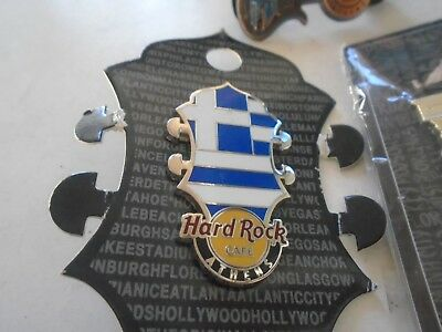 Hard Rock Cafe Athens Greece Ancient + greek flag greece lot of 3 new stock