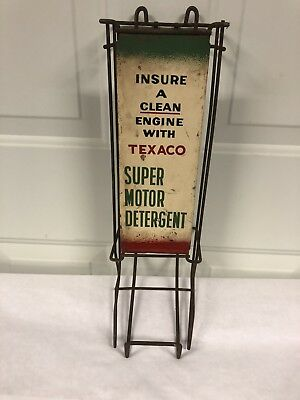 1959 Texaco Oil Gasoline Super Motor Detergent Display Stand.