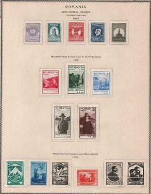 ROMANIA: 1927-1932 Examples - Ex-Old Time Collection - Album Page (18973)