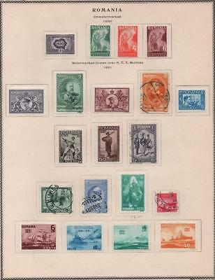 ROMANIA: 1930-1931 Examples - Ex-Old Time Collection - Album Page (18948)
