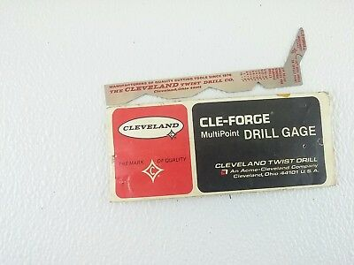 Vintage CLEVELAND CLE- FORGE Multi-POINT Drill GAGE