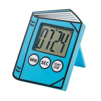 IF Digital Reading Timer -Electronic Book Shaped Time Keeper with Clip - Blue