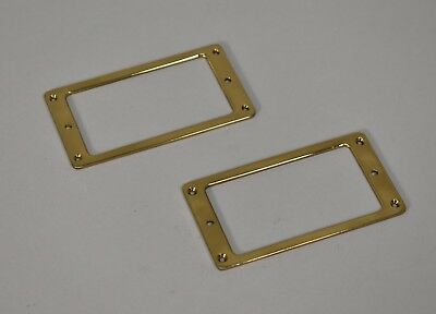 VINTAGE 1970's 1980's SCHECTER TELECASTER GUITAR PICKUP RINGS BRASS GOLD