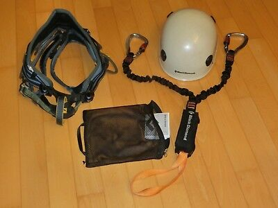 Klettergurt Petzl, Klettersteigset Black Diamond, Helm Black Diamond