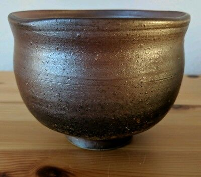 Japanese Bizen pottery tea bowl