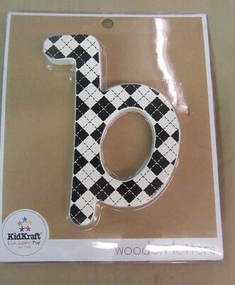 """.RARE - New KID KRAFT SOLID WOODEN LETTERS - *~b~* - FREE SHIPPING 6"""" Letter"""