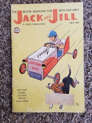 """Vintage """"Jack and Jill"""" Children's Magazine dated July, 1958"""