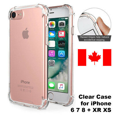 For iPhone XR XS MAX 8 7 6 Case Shock Proof Ultra Hybrid Clear Heavy Duty