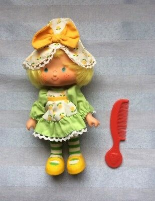 Vtg 80s Strawberry Shortcake Party Pleaser Doll Mint Tulip with comb