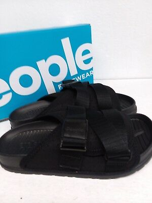 6c2b2f0e7a69 PEOPLE FOOTWEAR THE Lennon Slides Sandals Really Black NC04 030 BW ...