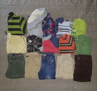 Boys Toddler Clothing Lot 2T and 3T Gymboree Gap Cat & Jack Fall Winter 15 Piece
