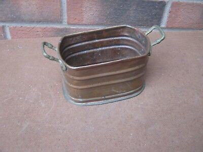 Copper planter trough window sill country kitchen herb desk tidy pot tub display