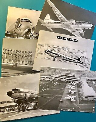 6 United Airlines Postcards