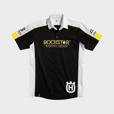 Husqvarna Mens Official Rockstar Factory Team Button Up Shirt **choose Size