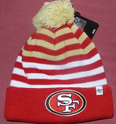 a60b8f0d SAN FRANCISCO 49ERS Red Knit Cuffed Beanie Hat Cap Nfl Licensed ...