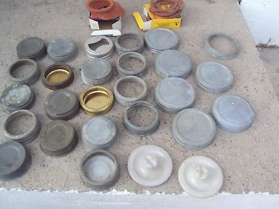 Vintage Lot Of  Mason Jar Lids Caps Jar Lids LARGE LOT
