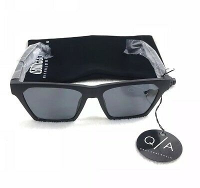 1a5f3eaaaec Quay Australia X Misguided Alright Womens Sunglasses Black Frame Smoke Lens
