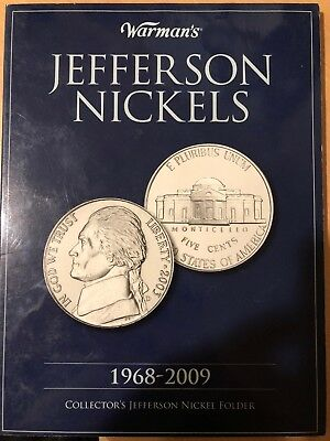 Almost Complete 1968-2009 Jefferson nickel Book Coin Set