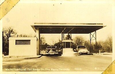 Real Photo Postcard, Wells (Sanford) Toll House on Maine Turnpike