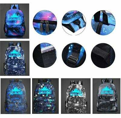 Fashion Zipper School Bag Fornight Night Light Star Bag Fashion Bag Backpack