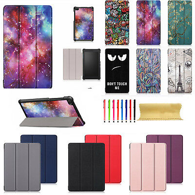 For Lenovo Tab E7 TB-7104F Tri-Fold Stand Leather Pattern Shockproof Case Cover