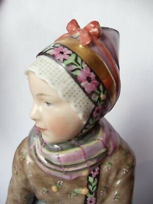 ROYAL COPENHAGEN DENMARK FIGURINE AMAGER FLOWER GIRL No. 12412