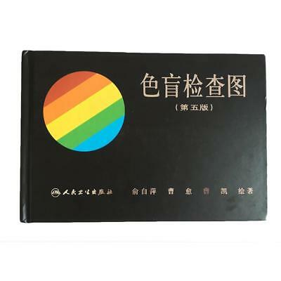 Newest 38 Plate Ishihara Test Book Color Blindness Eye Testings.