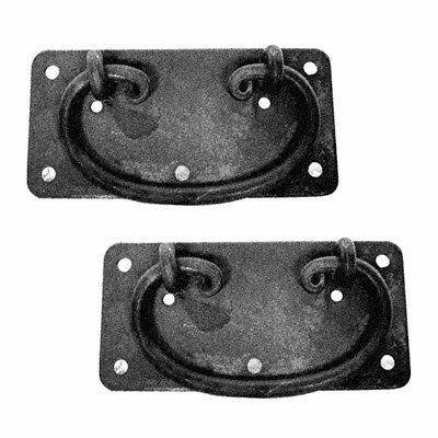 """2 Cabinet Drawer Door Pull Black Wrought Iron Mission 4""""  