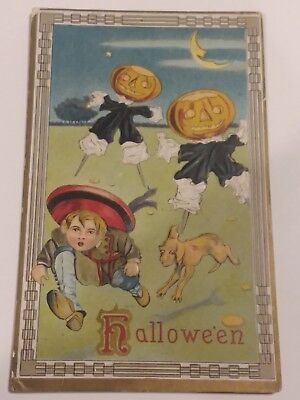 Circa 1909 Embossed Halloween Postcard Unused