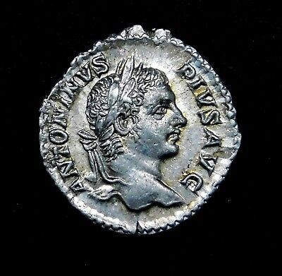 Caracalla. Gorgeous Denarius. Brother to Geta. Ancient Roman Silver Coin.