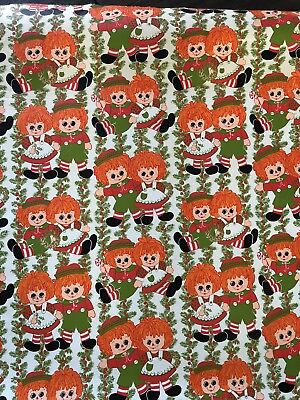 Raggedy Ann and Andy Christmas Gift Wrap/ Wrapping Paper