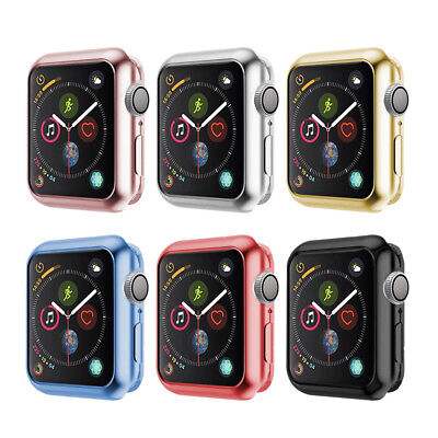For Apple Watch iWatch Series 4 Silicone TPU Bumper Case Cover Protector 40/44mm