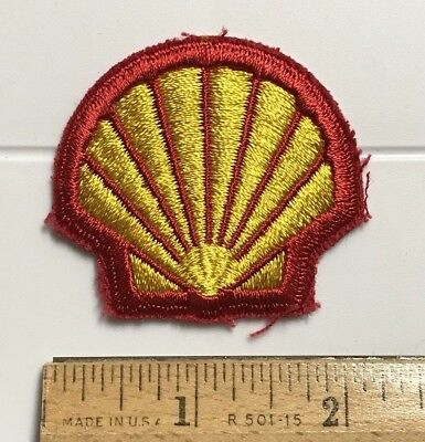 Shell Gas Gasoline Clamshell Orange Yellow Logo Embroidered Patch Badge