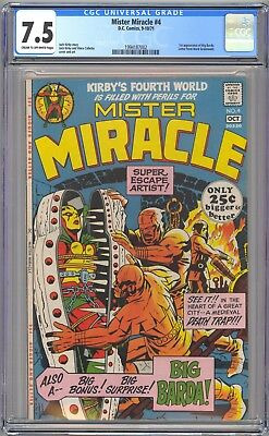 DC MISTER MIRACLE #4 - CGC 7.5 - CR/OW - VF-  First BIG BARDA
