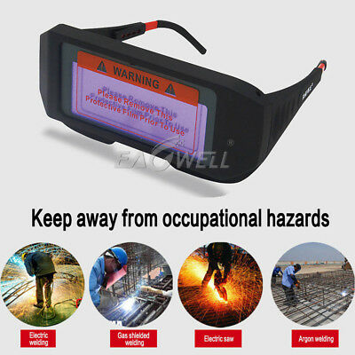 Solar Powered Auto Darkening Welding Mask Helmet Eyes Goggle Welder Glasses New