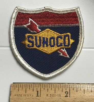 Sunoco Gasoline Gas Oil Company Logo Shield Badge Embroidered Patch
