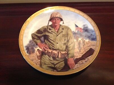 USMC John Wayne Symbol of America's Fighting Forces The Franklin Mint War Plate