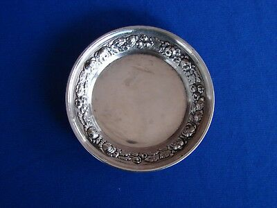 Stieff Sterling Butter Pat Dish Stieff Rose 48-Y No Monogram