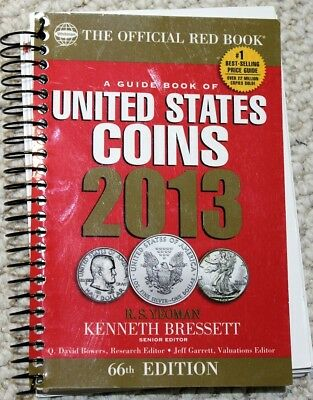 """2013 """"the OFFICIAL RED BOOK"""" HANDBOOK of U.S. COINS (66th ED.) WHITMAN PUB. Co."""