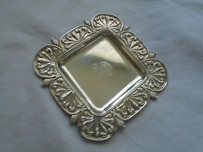 ESTATE TIFFANY & Co STERLING SILVER  BUTTER POT CANDY SQUARE  TRAY-DISH