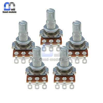 2PCS B500K Guitar Potentiometer OHM Split Shaft Pots Audio Tone Switch Control
