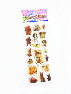 Xmas Cute Cartoon Dog Bubble Removable Stickers Scrapbook Kids Birthday Gift