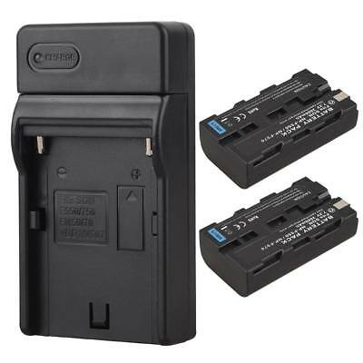 2x 2600mah NP-F550 Backup Battery Pack + Charger for Sony NP-F570 NP-F550 Camera