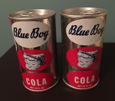 Set of 2 Blue Boy Cola Can Coin Banks