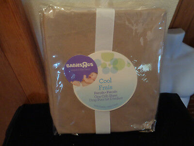 Babies R Us One Percale Crib Sheet 200 Thread Count 100% Cotton