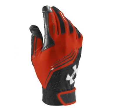 Ua Under Armour Clean Up Youth Baseball Batting Gloves Ylg Pair 1243732-860