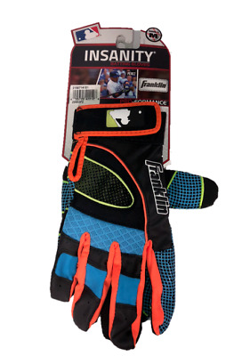 Franklin Youth Large Insanity Batting Gloves Black/Pink/Green MLB Hardy,Votto